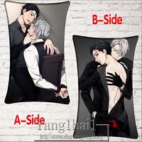 Anime YURI!!! on ICE Cosplay Cushion Bedding Dakimakura Pillow Case Soft Cover #