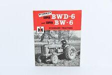McCormick International IH Super BWD-6 & Super BW-6 tractor brochure mint 1950s