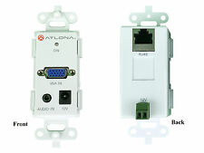 VGA Video and Audio Wall Plate UTP/CAT5 Extender (Transmitter/Receiver) Set