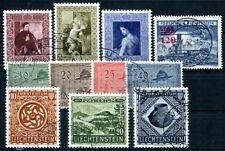 LIECHTENSTEIN 1953 315-321,310 etc gestempelt 285€(A9271