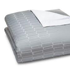 Pratesi Bedding Check Jacquard Egyptian Cotton KING Duvet Cover Grey $726 G5079