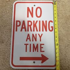 """No Parking Anytime Metal Sign 18"""" X 12"""" Reflective Heavy Duty Aluminum Thick"""