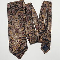 Real Ancient Madder Paisley Floral Nordstrom x Jacobs Roberts Vtg Silk Tie 3.5in
