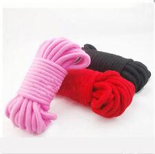 Set of 3 Soft Cotton Bondage Ropes 10m (33ft)-Shibari Japanese Silk kinky