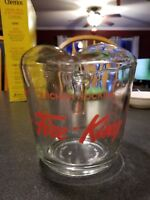 Vintage Anchor Hocking Fire King Measuring 2 Cups Ounces & mls Red Markings
