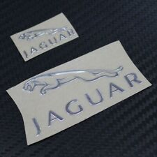 Jaguar Silver Chrome Sticker 30mm x 15mm Vinyl Metallic Logo Exterior Car Body