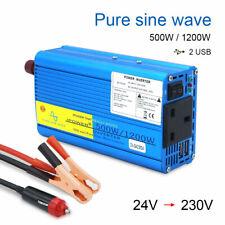 500w 1200w truck converter pure sine wave power inverter DC 24v to AC 230v trip