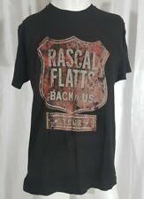 Rascal Flatts Back To Us Tour T-shirt Black Men Size Large Black