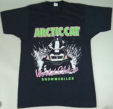 Arctic Cat Snowmobile T-Shirt Vintage World Class Racing Black Excellent Size M