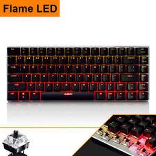UK Flame LED Backlit Ajazz AK33 Usb Mechanical Gaming Keyboard Game Black Switch