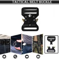 Tattica Militare Fashion Uomo Fibbia In Metallo Casual Per Cintura Borse Nero