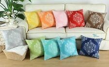 CaliTime Cushion Covers Throw Pillows Cases Reversible Florals Print Decor 45cm