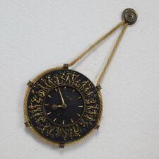 RAR Kienzle 8 Tage Messing Bronze Nymphen Uhr Wand Kordeluhr Fritz Nuss 30er J.