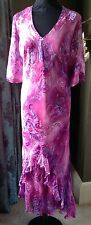 Beautiful magenta occasion wear dress by Claudia Stevens UK size 24