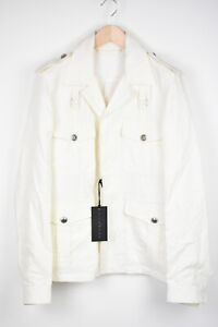 JOHN RICHMOND Men's (EU) 48 or ~MEDIUM 100% Linen Military Look Jacket 38841-G