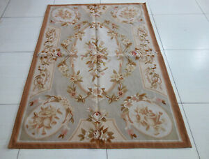 Vintage Shabby Chic Beautiful Floral Rose Garland French Style Aubusson Carpet