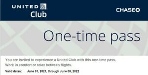 ONE UNITED Airlines Lounge Club One-Time Pass All Access Airport Expires 06/2022