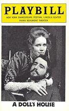 """Liv Ullmann (Signed) """"A DOLL'S HOUSE"""" Sam Waterston / Judith Light 1975 Playbill"""