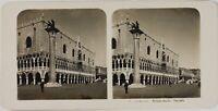 Italia Venezia, Palazzo Ducale Facciata, Foto Stereo Vintage Analogica