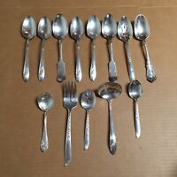 Lot of 13 Vintage Silverplated Flatware..w.m rogers Tablespoons Teaspoon AR81