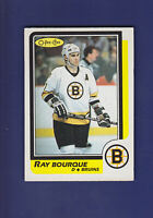 Ray Bourque HOF 1986-87 O-PEE-CHEE OPC Hockey #1 (EXMT+) Boston Bruins