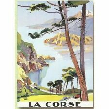 FRENCH VINTAGE POSTER 50x70cm CORSICA LANDSCAPE LE PERI France