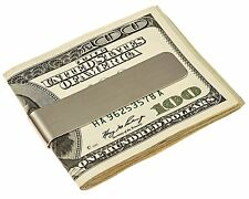 Acero Inoxidable Plata doble cara tarjeta de crédito ID de efectivo bolsillo delgado Clip Holder