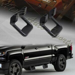 2 x Universal Truck Black Texture Coated Die-Cast Aluminum Trunk Side Step Bar