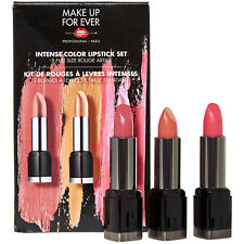 MAKE UP FOR EVER INTENSE COLOR LIPSTICK SET NEUTRALS RRP £58 M1 M5 33 FULL SIZED