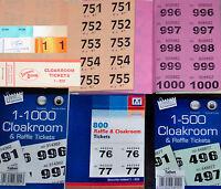 raffle ticket BOOKS 1000 800 500 400 200 100 pick a size & colour + duplicates