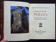F. VILLON [Lucien BOUCHER] - Poésies (1930 - Ex. N° s/Rives - Illustré - Relié)