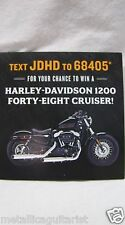 (100) JACK DANIELS WHISKEY - MANCHESTER NH HARLEY DAVIDSON CONTEST BROCHURE
