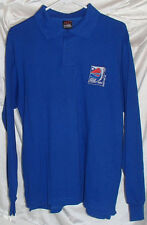 Chile 2008 FIFA Blue Long Sleeve Polo Shirt National Soccer Team Mens Size M New