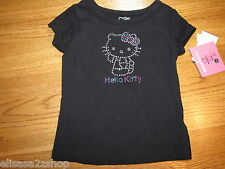 Girls Hello Kitty Sanrio HK50320 black shirt TEE t shirt youth 4 NWT^^