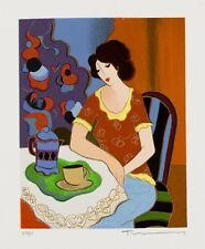 "Art QUALITY CANVAS PRINT, Itzchak Tarkay oil painting c82 Five O′Clock 12x15"""