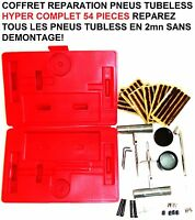 54 PIECES! SUPER MALETTE REPARATION PNEUS TUBELESS REPARE EN 1MN SANS DEMONTAGE