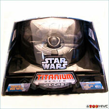 Star Wars Titanium series Federation Droid Fighter with display case