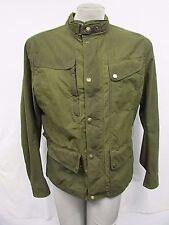 MATCHLESS LONDON Men's Large Green Tan Baker Cloth Moto Jacket MSRP $895 H275