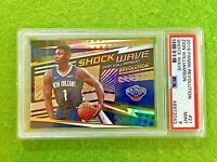 ZION WILLIAMSON 2019-20 REVOLUTION PRIZM ROOKIE CARD PSA 9 MINT SP SHOCK WAVE RC