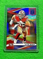 NICK BOSA PRIZM STATUS CARD SP #/97 49ERS 2020 PANINI DONRUSS ELITE REFRACTOR SP