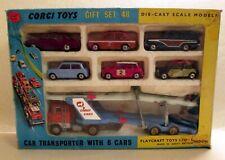 Corgi Toys, Gift Set 48, Ford Car Transporter & 6 Cars,   rare   original