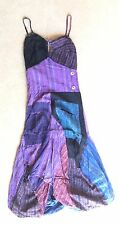L Gringo Small  UK 8 fair-trade hippy festival Psy Purple cotton Bubble dress