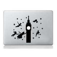 Peter Pan Big Ben Sticker Silhouette Macbook Laptop Decal Vinyl Skin Mural Art