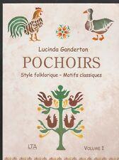 POCHOIRS Style folklorique Motif classique Lucinda Ganderton livre