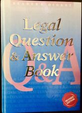 LEGAL QUESTION & ANSWER BOOK - READER'S DIGEST - Revised Edition 2010 - Like New