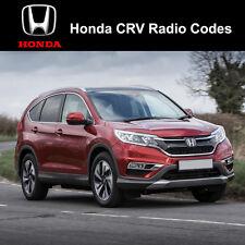 Código De Radio Honda CRV Fast servicio de desbloqueo de códigos de estéreo Reino Unido