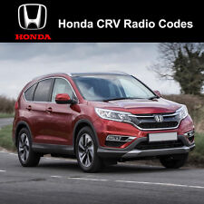 Honda CRV Radio Code Stereo Codes Fast Unlock Service uk