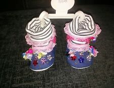 blinged baby shoes size 3-6ms (booties )
