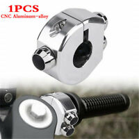 "Universal 25mm 1"" CNC Motorcycle Momentary Switch Aluminium Alloy Switch Silver"