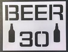 "Beer 30 11"" x 8.5"" Custom Stencil FAST FREE SHIPPING"